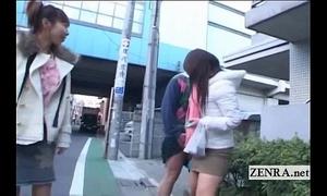 Subtitled insane public japanese crossdressing femdom