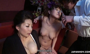 Two smokin' sexy japanese beauties have a fun a wild sexual trio
