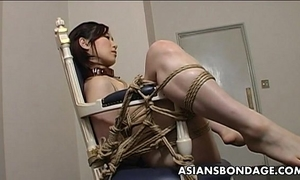 Extreme servitude and sex toy fuck for an oriental honey