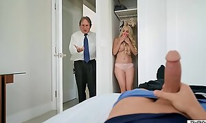 Stepmom joins her stepson all round have sex