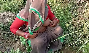 Indian Village Bhabhi Going to bed Open-air Sex In Hindi