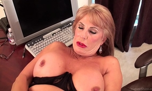 Slutty aged blond rae hart prefers posing and playing with her sissy