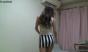 Peeping exposed japanese cheating wife madoka at her room